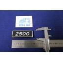 FIAT    2500 (FONDO NERO) PLASTICA