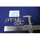 "EMBLEM ""PRIMULA 65 C""  METAL CHROME"