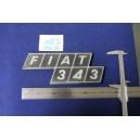 """EMBLEM """"FIAT 343""""  PLASTIC"""
