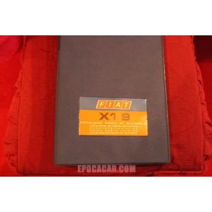 X 1/9       CATALOGO PARTI DI RICAMBIO-MECCANICA (2° EDIZIONE 1974)