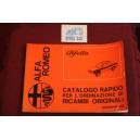 ALFETTA   CATALOGO RAPIDO PER L' OEDINAZIONE DEI RICAMBI (1972)