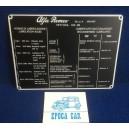 PLACCA  LUBRIFICANTI RACCOMANDATI 102-00 (2000 TOURING)